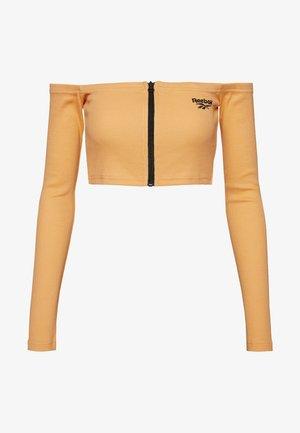 CROP - Long sleeved top - sunbaked orange