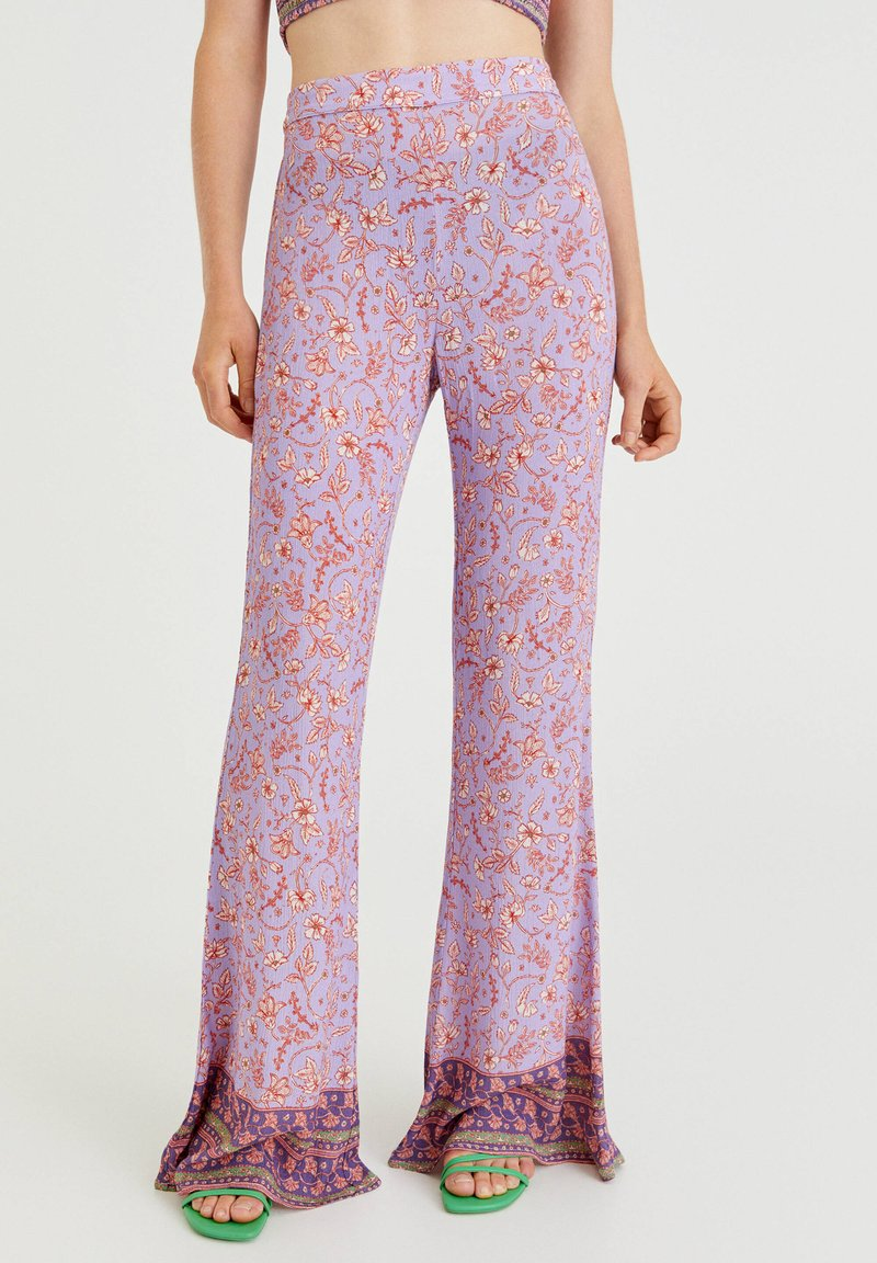 PULL&BEAR - Trousers - lilac