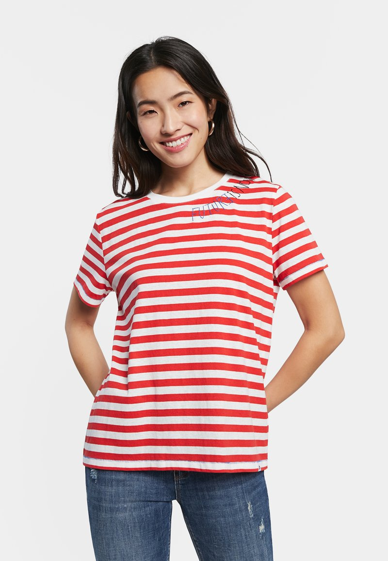 Desigual - Print T-shirt - red