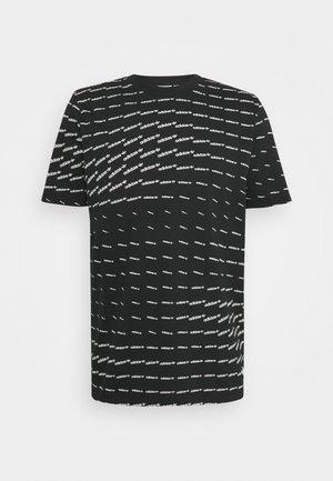 MONO TEE UNISEX - T-shirt print - black/white