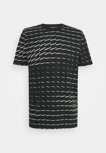 MONO TEE UNISEX - T-shirt con stampa - black/white