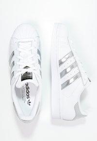 adidas Originals - SUPERSTAR - Sneakers - white/silver metallic/core black - 3