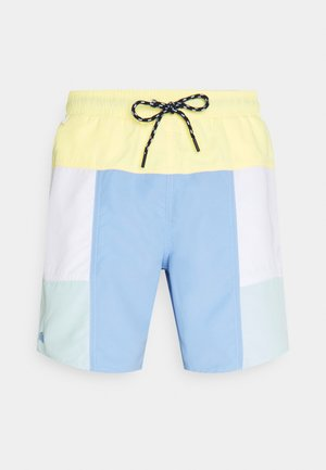 Swimming shorts - zabaglione/white/nattier blue