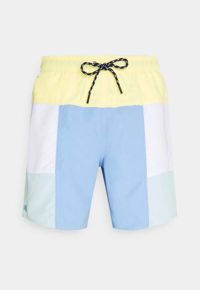 Short de bain - zabaglione/white/nattier blue