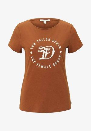 MIT PRINT - Print T-shirt - amber brown