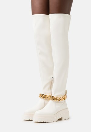 LEONIE HANNE - Over-the-knee boots - milk