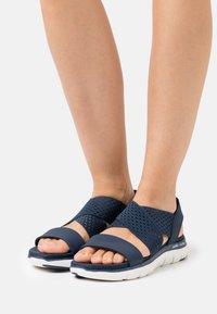 Skechers Sport - FLEX APPEAL 2.0 - Sandals - navy gore - 0