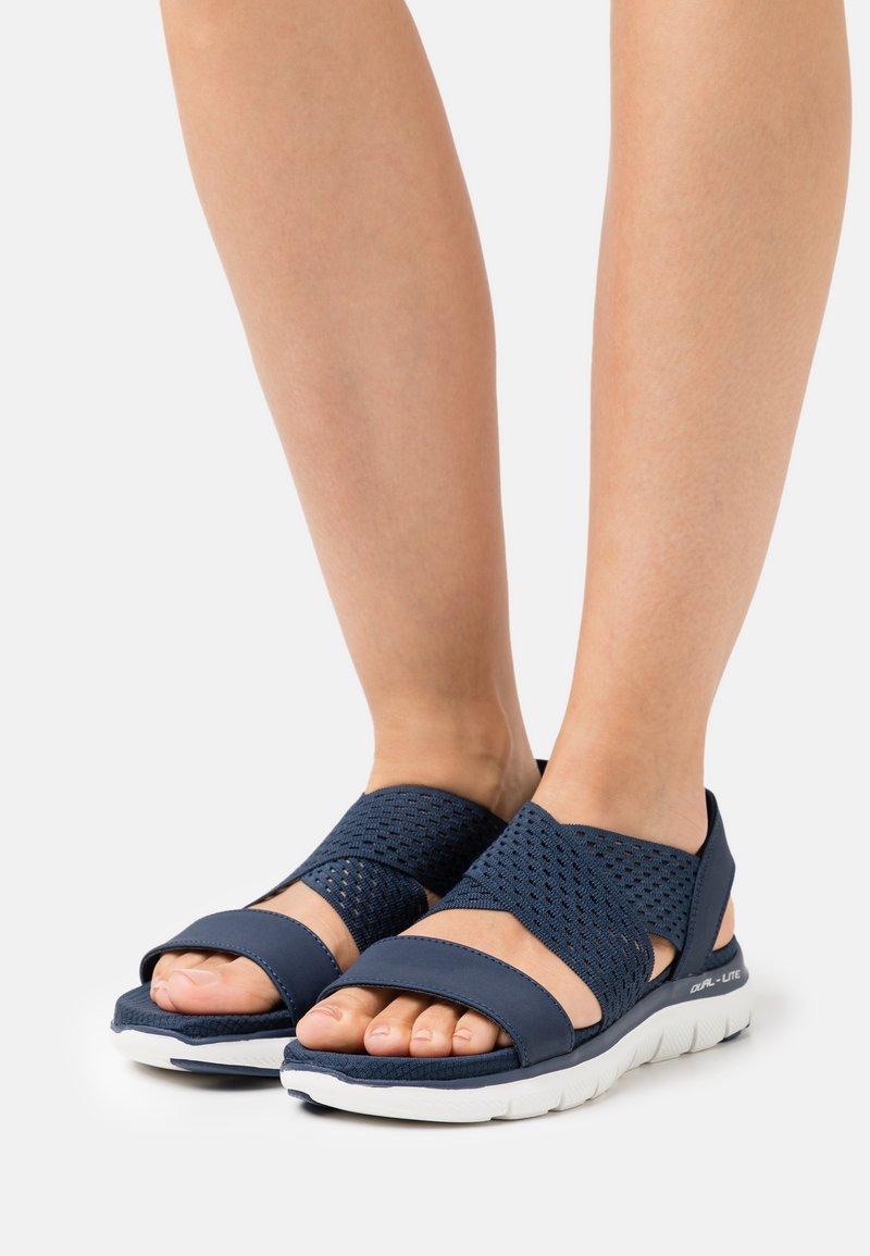 Skechers Sport - FLEX APPEAL 2.0 - Sandals - navy gore