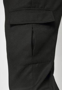 Topman - SMART CHECK TAPER - Cargo trousers - black - 3