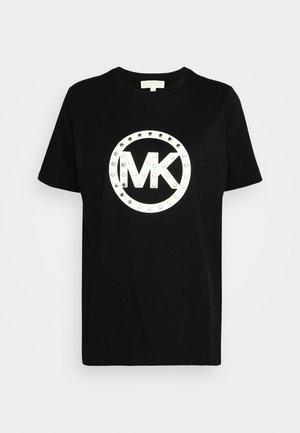 STUD CIRCLE LOGO TEE - T-shirts med print - black