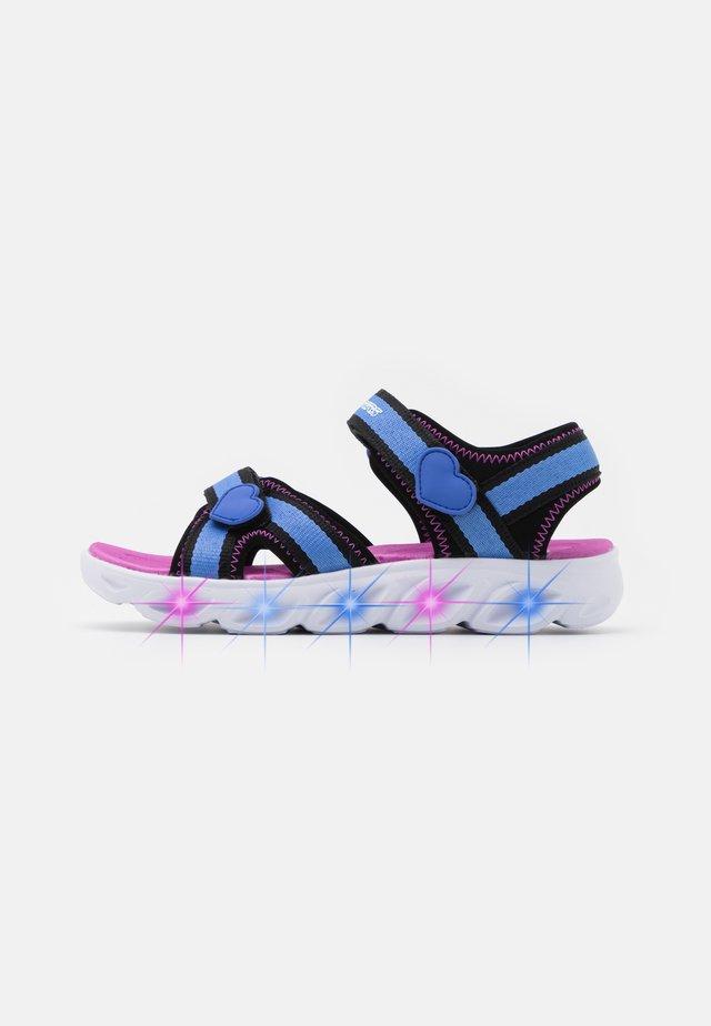 HYPNO SPLASH - Walking sandals - blue/black/fuchsia