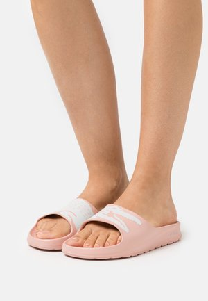 CROCO  - Pantolette flach - light pink/white