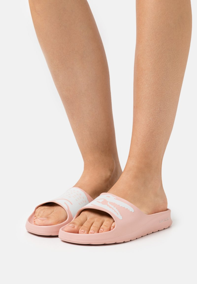 Lacoste - CROCO  - Mules - light pink/white