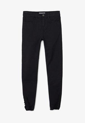 MIT HOHEM BUND UND RISSEN  - Jeans Skinny Fit - black