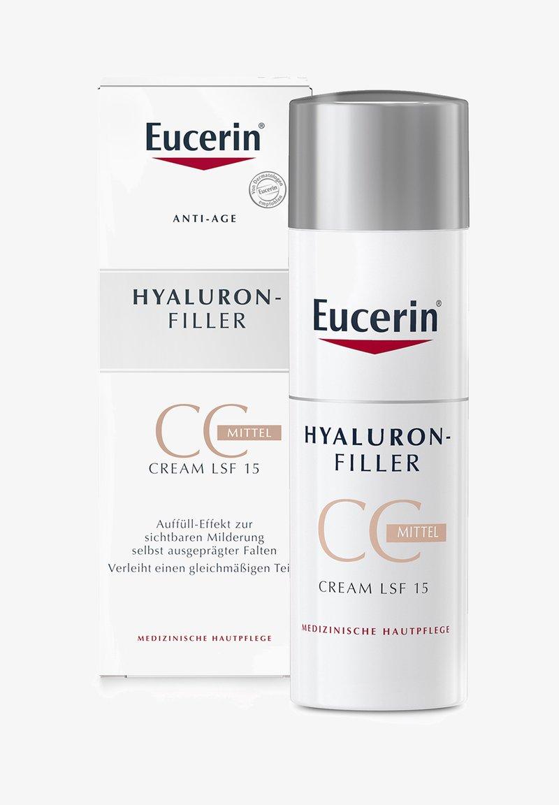 Eucerin - GETÖNTE TAGESCREME HYALURON-FILLER CC CREAM MITTEL, ANTI AGE - CC cream - -