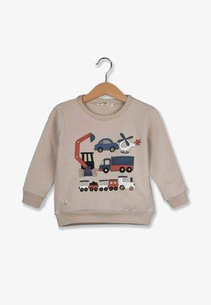 MIXED VEHICLE PRINTED - Sweatshirt - beige