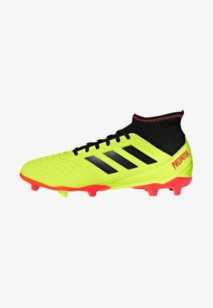 PREDATOR 18.3 FG - Moulded stud football boots - syello/cblack/solred