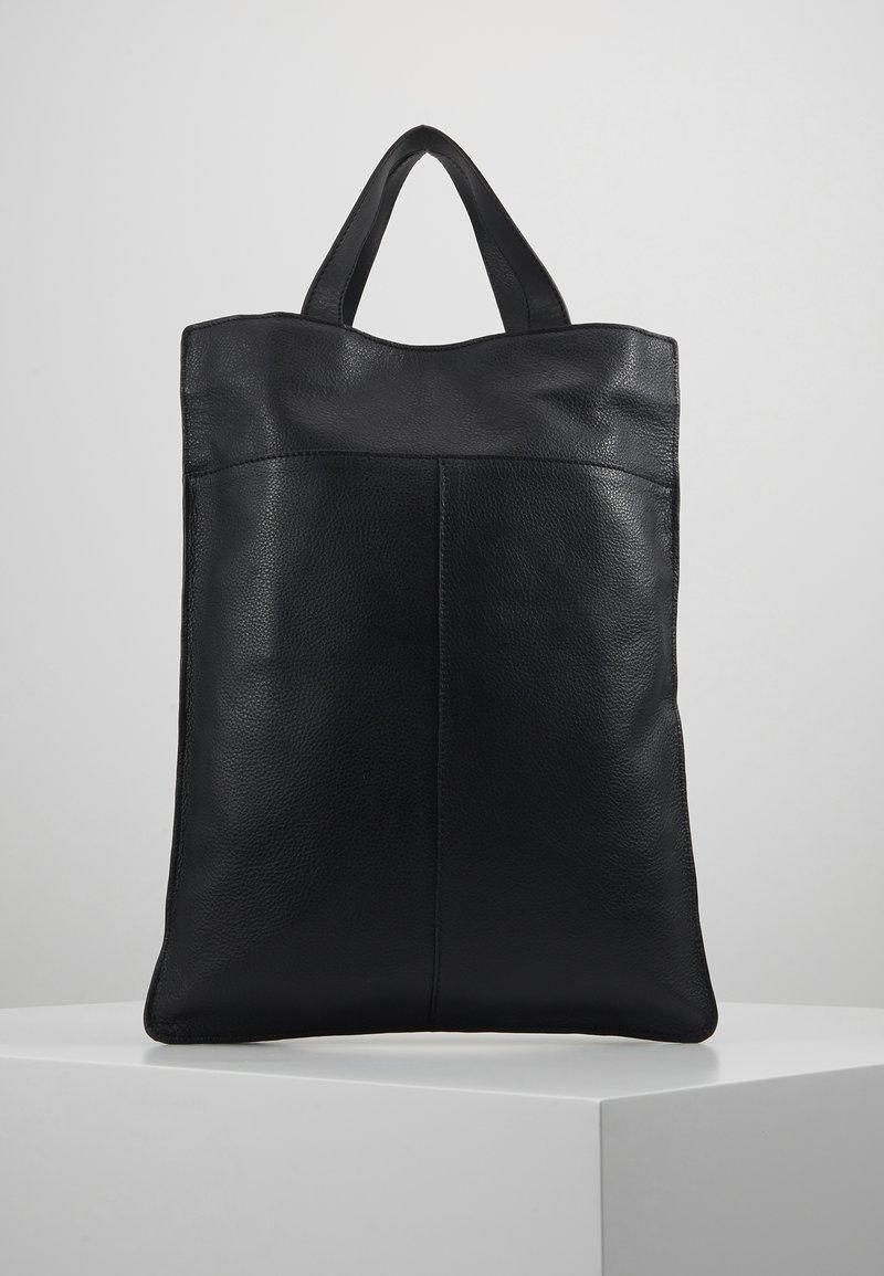 Zign - UNISEX LEATHER - Shopping bags - black