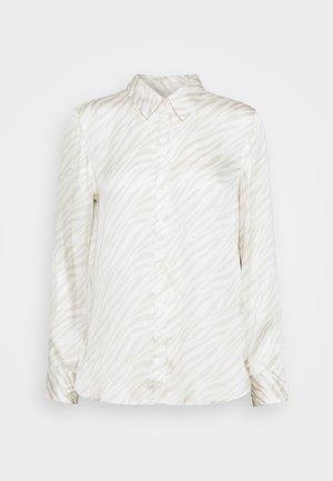 DILLON SOFT - Button-down blouse - beige