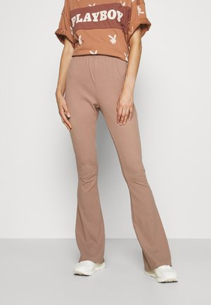 WIDE LEG TROUSERS - Bukse - taupe