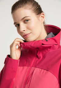 PYUA - Waterproof jacket - jalapeno red - paradise pink - 3