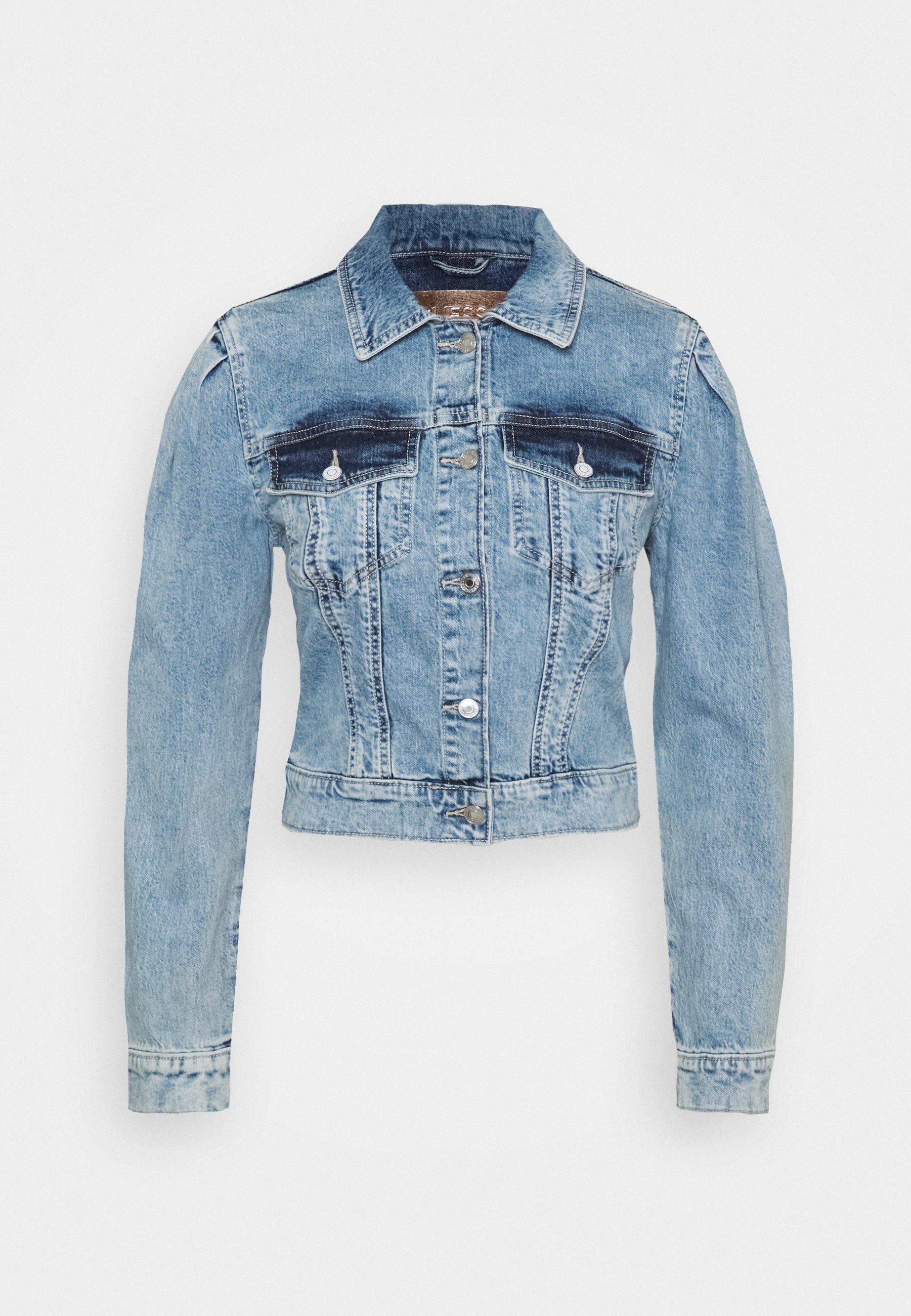 Guess 80S TEDDY JACKET Jeansjakke shallalyseblå denim