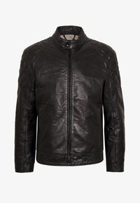 Strellson - DARWIN - Leather jacket - black - 4