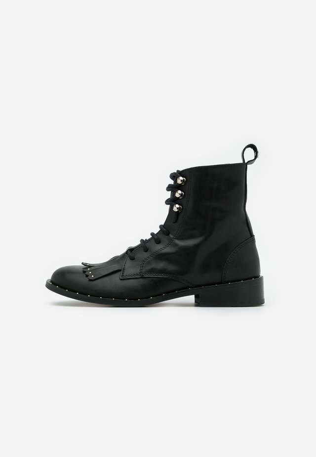 OLIVIA TASSLE BOOT - Lace-up ankle boots - black