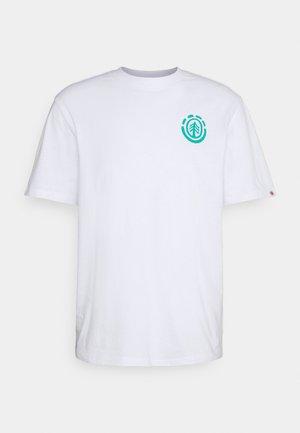 BALMORE - Print T-shirt - optic white