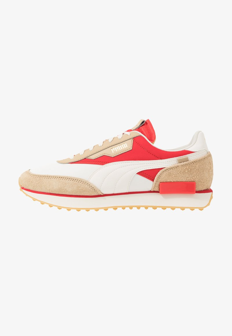 Puma - RIDER - Sneakers basse - whisper white/pebble/high risk red