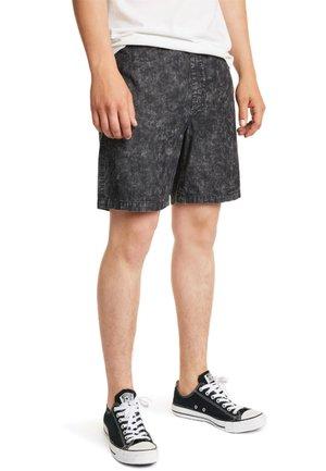 Denim shorts - black acid