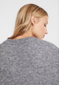 CLOSED - Pullover - grey heather melange - 6