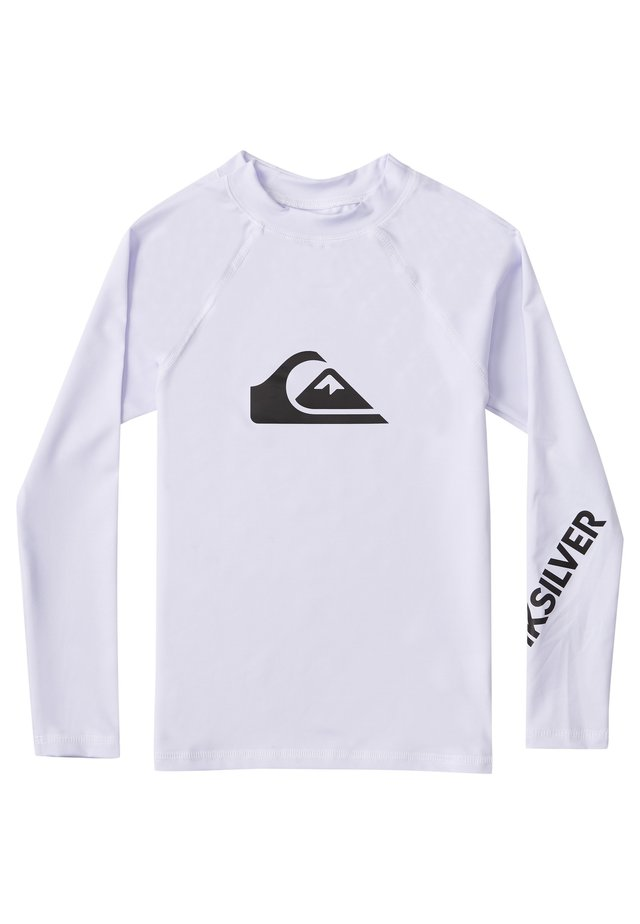 QUIKSILVER™ ALL TIME - LANGÄRMLIGER RASHGUARD MIT UPF 50 FÜR JUN - Rash vest - white