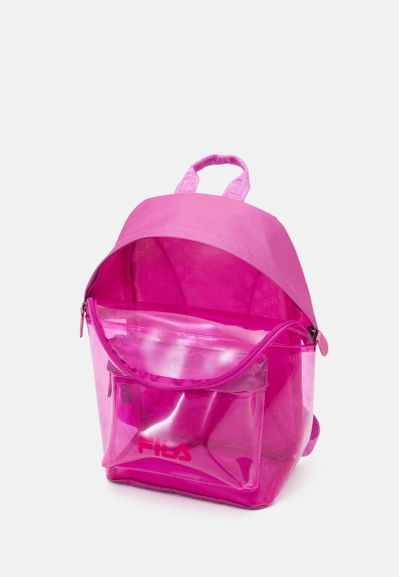 Fila - TRANSPARENT BACKPACK UNISEX - Mochila - super pink