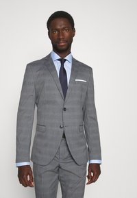 Selected Homme - SLHSLIM-NAS GREY CHECK SUIT - Suit - grey/blue/white - 2