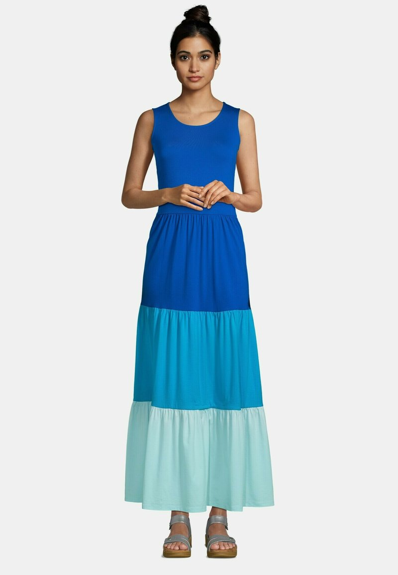 LANDS' END - Maxi dress - classic cobalt colorblock