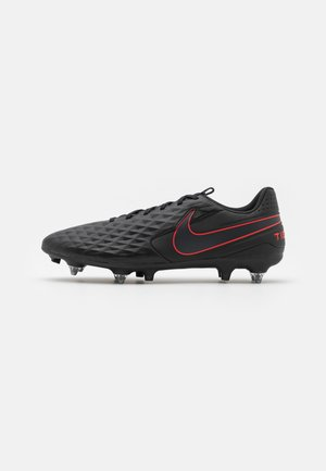 TIEMPO LEGEND 8 ACADEMY SG-PRO AC - Screw-in stud football boots - black/dark smoke grey/chile red