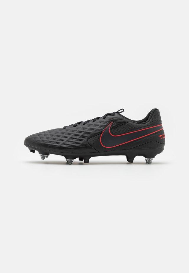 TIEMPO LEGEND 8 ACADEMY SG-PRO AC - Fußballschuh Stollen - black/dark smoke grey/chile red