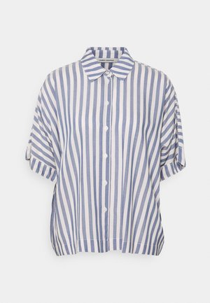 KELIS - Button-down blouse - blue/off white