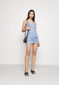 Noisy May - NMSTINE ROUCHING DRESS - Jersey dress - purple impression - 1