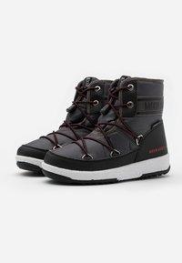 Moon Boot - BOY MID  - Botas para la nieve - black /castlerock - 1