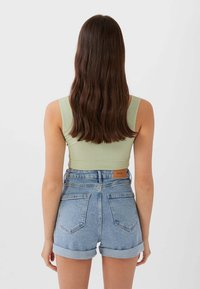 Stradivarius - Short en jean - dark blue - 2