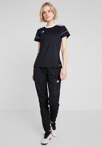 adidas Performance - CLIMALITE PRIMEGREEN JERSEY SHORT SLEEVE - T-shirt med print - black/white - 1