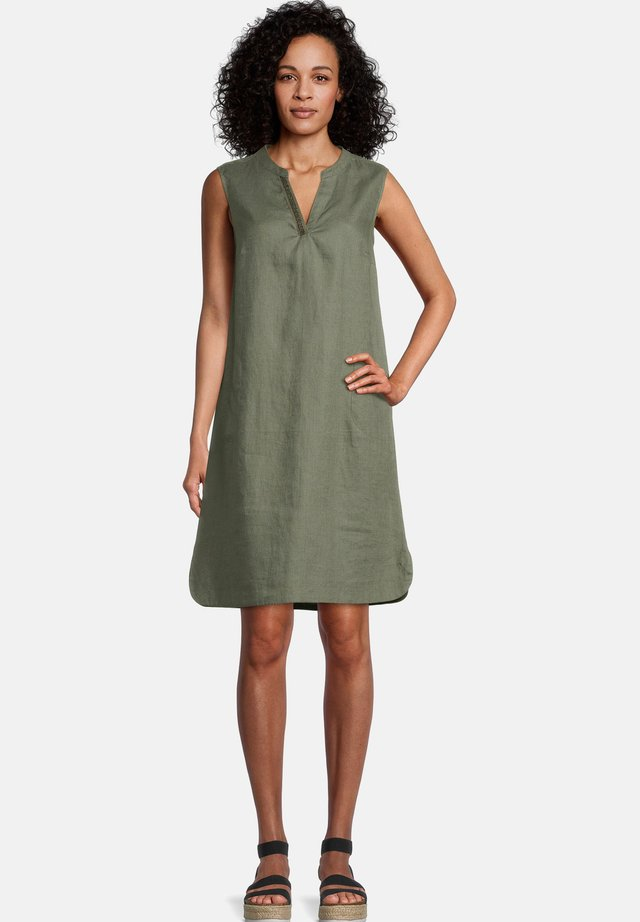 Day dress - dusty olive