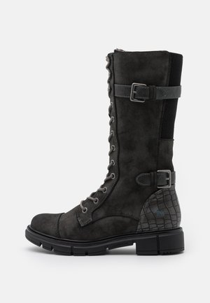 Lace-up boots - dunkelgrau