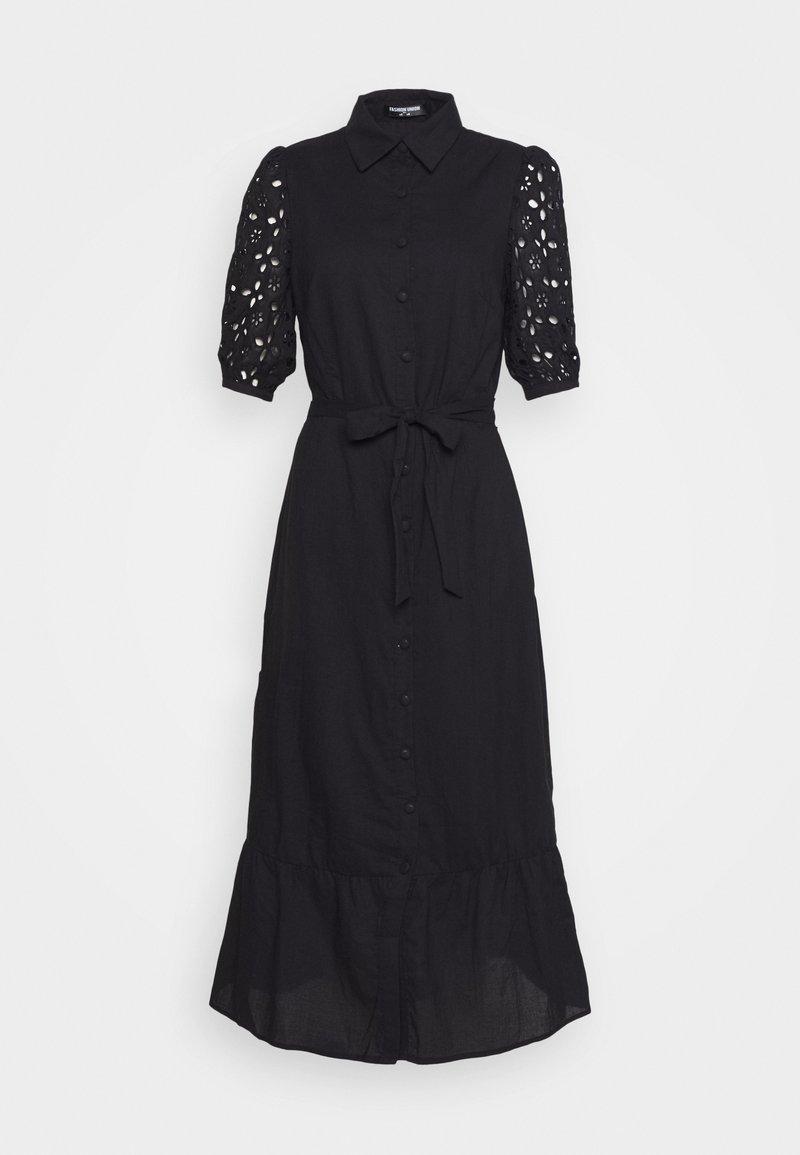 Fashion Union Tall - BLAKE - Košilové šaty - black