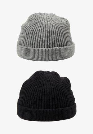 ONSSHORT BEANIE 2 PACK - Lue - black/grey melange