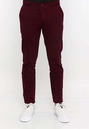 Pantalones chinos - bordeaux