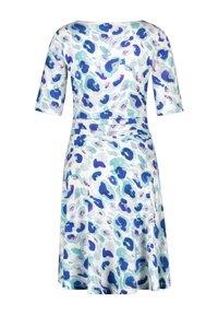 Taifun - Jersey dress - blue curacao gemustert - 4