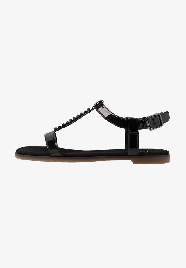 BAY ROSA - Sandaalit nilkkaremmillä - black